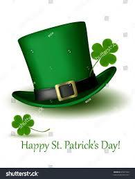 st patricks day hat clover vector stock vector 97621922 shutterstock