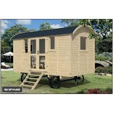 bureau logement roulotte de jardin en kit bois sapin 19mm logement insolite bureau