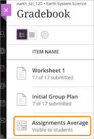calculate grades blackboard help