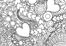 hearts flowers coloring pages intricate heart coloring pages
