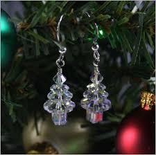 tree earrings clear