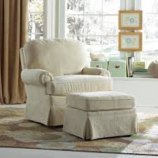 Pottery Barn Rocking Chair Stunning Glider Chair With Ottoman Upholstered Chairs Glider