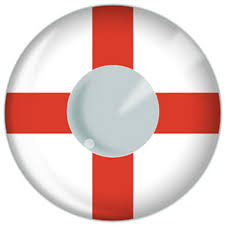 Englands Flag Brazil World Cup 2014 St Georges Cross England Flag Contact Lenses