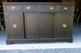 paint furniture black vintage hepplewhite buffet
