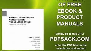 fujitsu inverter air conditioner troubleshooting video dailymotion
