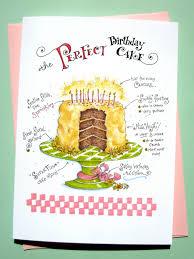 birthday cake card funny birthday card girlfriend birthday