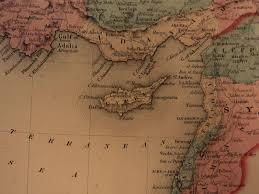 Asia Minor Map by 1855 1st Colton Atlas Color Map Turkey Mesopotamia Asia Minor