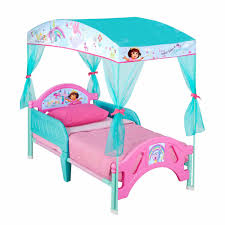 Toddler Bed With Canopy The Explorer Plastic Toddler Bed With Canopy Walmart
