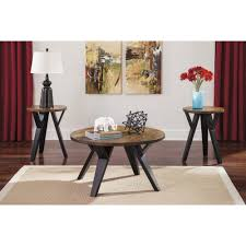 furniture cool steve silver alice 3 piece coffee table set in