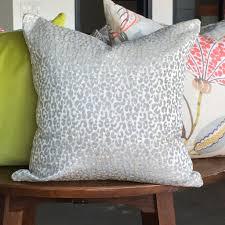 a pretty leopard print fabric in a soft chenille velvet silver