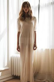 Wedding Sleepwear Bride Bridal Silk Knit T Shirt Nightgown Sheer Light Honeymoon Wedding