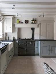 farrow and kitchen ideas a kitchen with units painted in shaded white above and pigeon