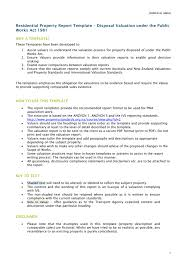 Business Valuation Report Template Worksheet by Residential Property Valuation Report Template