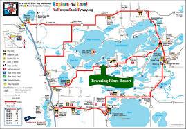 ideal resort map paul bunyan scenic byway state biketrail uppgaard nature