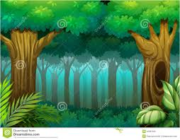 deep forest illustration 43387595 megapixl