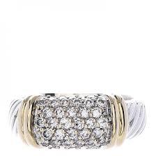 8mm diamond david yurman sterling silver 18k yellow gold diamond 8mm metro