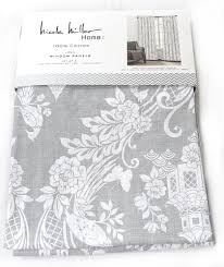Tahari Home Drapes by Nicole Miller Gray Phoenix Bird Pagoda Pair 96