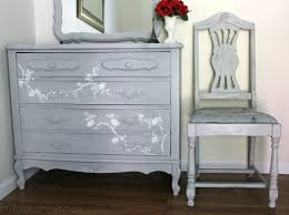 themed dresser chair makeover in grey girl in the garage