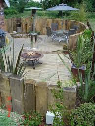 Railway Sleepers Garden Ideas Railway Sleeper Gardens Best 25 Railway Sleepers Garden Ideas On