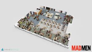 Tv Show Apartment Floor Plans Explore 3 D Floor Plans For The Unlikely Spaces In U201cmad Fast Company