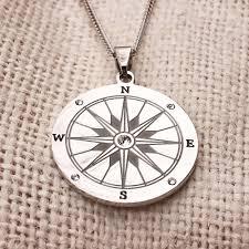 Pendant Engraving Engravable Compass Necklace Eve U0027s Addiction