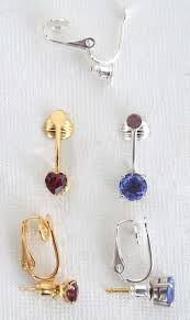 earring converters gold silver plated earring converters converts pierced to clip