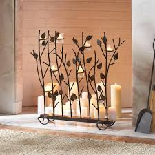 amazing candle holders for fireplace home decor interior exterior