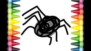 how to draw spider coloring pages for kids youtube