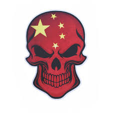 china flag skull badge scary car styling decal reflective printing