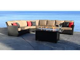 cabana coast westport 5 piece sectional with wicker frame