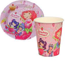 strawberry shortcake party supplies 100pcs strawberry shortcake paper plates and cups party supplies