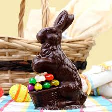 easter chocolate bunny sitting chocolate bunny decorated with jelly beans solid buy