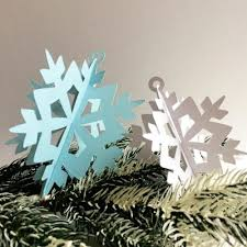 handmade 3d snowflake ornaments berry designs