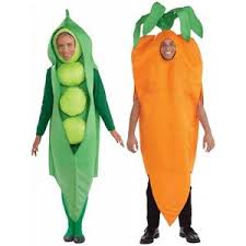 Couples Halloween Costumes Adults Peas Carrots Costume Funny Couples Halloween Fancy Dress
