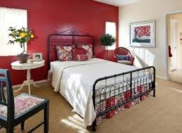 Vintage Bedroom Design Vintage Bedroom Decor With Classic Bed White Color Red Wall Paint