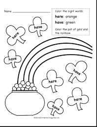 100 printable color by sight word kindergarten with all