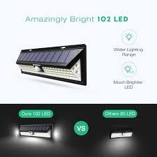 mpow solar light instructions mpow 102 led motion sensor solar light large solar panel outdoor
