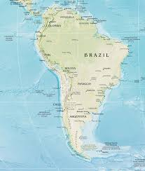 Latin And South America Map by South America Physical Map 2 U2022 Mapsof Net