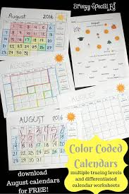 visual color coded calendars for students with special needs