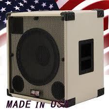8 ohm bass speaker cabinet greg s pro audio 1x15 with tweeter bass guitar speaker cabinet