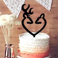 browning cake topper wedding cake topper browning deer heart carving deer and
