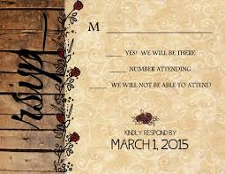 wedding invitations western flowers 10 invitations and 10 rsvp