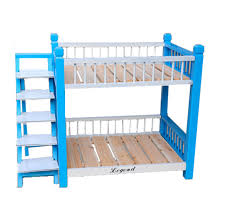 Bunk Bed For Dogs Wooden Pet Dog Cat Double Deck Bunk Bed Hut Cage Kennel Doghouse