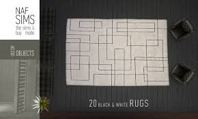 Rugs Black Mod The Sims Black U0026 White Rug Collection