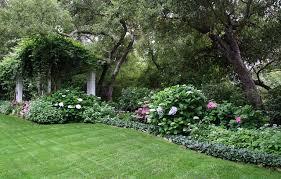 Shady Garden Ideas Back Yard Shade Garden Traditional Landscape Santa Barbara
