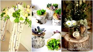 24 beautiful decorative wooden stump vases crafts for your