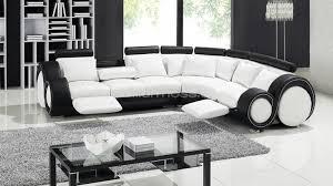 canapé d angle blanc et noir canapé d angle design relax en cuir mobilier