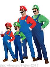 Mario Luigi Halloween Costume Mario Luigi Costumes Ebay