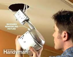 installing remodel can lights how to install recessed lighting in existing light fixture