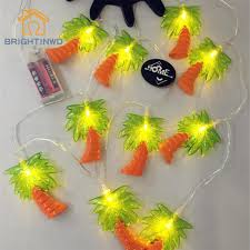 coconut tree palm string lights led tropical fruit
